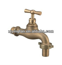 Bibcock ;chrome plated (natural colour); european style tap