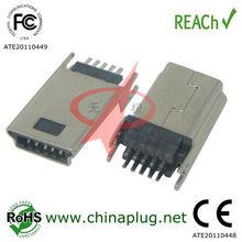 10 Pin Lock DIP Type mini usb male connector