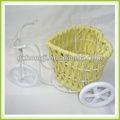 Artesanato presente bicicleta cesta de flores