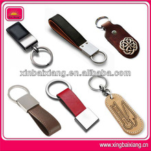New design leather keyring with debossed or embossed logo