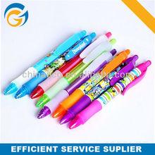 Hot Rubber Grip Plastic Cartoon Clip Ball Pen