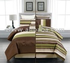 ANIPPE 8PC BED IN A BAG COMFORTER BEDDING BEDROOM SET QUEEN SIZE GREEN BROWN