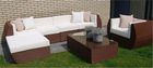 Outdoor rattan/wicker furniture- garden set-sofa set
