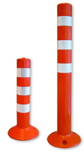 New power coated fixed stainless bollard -rubber base for sale
