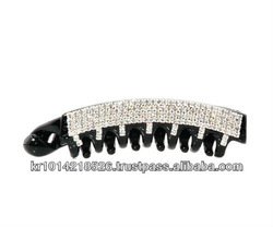 Plastic Jaw Clips with rhinestone heart hair jaw clips 2013 hair clips