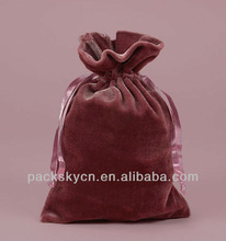 wholesale brown velvet bags with bead