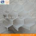 Pp de plástico tubo de nido de abeja, de nido de abeja de tubo inclinado, hexagonal de plástico de embalaje de nido de abeja