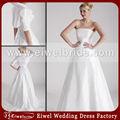 blanc pur 77349 simple robe de mariée bustier pour de larges épaules