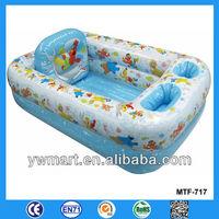 Kids plastic bathtub, PVC plastic inflatable air bathtub for kids