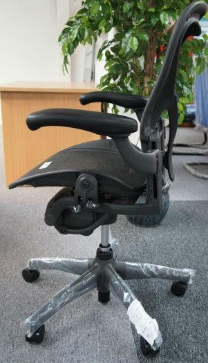 Aeron Chair by Herman Miller Highly Adjustable Titanium Smoke Frame PostureFit Support