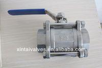 3pc ball valve thread femal NPT/BSP ss 304 316 pe ball valve ball valve torque calculation