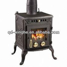 wood cook stove, wood burning stove, cast iron fireplace