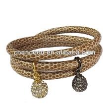 Metal cuff leather bracelet halloween men's leather bracelet fashion accessory leather wrap bracelet