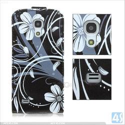 Special Design Flip Leather Case Cover for Samsung Galaxy S4 Mini/i9190 P-SAMI9190CASE020