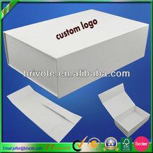 Flat pack gift paper box plain white box