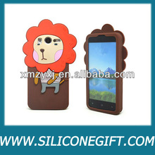 customized 3D lion silicone rubber cell phone cases/covers