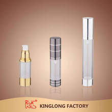 High quality KingLong China 15ml 20ml 50ml 150ml airless foam pump bottle