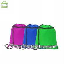 Polyester drawstring bag with Reflective strips