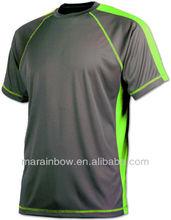custom cover stitched colorblock technical custom dri fit running shirts