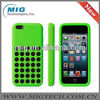 Slim Dotted silicone soft cover for apple iphone 5c ,for iphone 5c cover