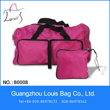 Guangzhou pink convenient foldable mens travel bag