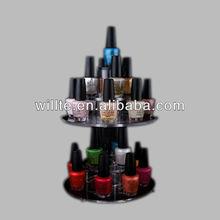 2 Tier acrylic counter display, opi/nail polish display rack