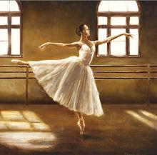 sunshine dancer girl in ballet room oil paintings on canva
