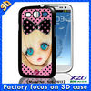 hot sell 3D case for samsung galaxy core i8260 i8262 with 3D and flip pattern
