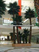 Artificial washington palm tree in pot