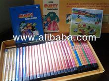 Muzzy Family English (Set of DVDs, CD-ROMs & Books)
