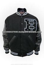 varsity jacket with knitted rib, varsity jacket as custom design/ cheap custom varsity jackets