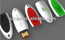Top sale promotional gift metal pull and push usb flash security