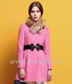 2012-2013 moda feminina casaco rosa
