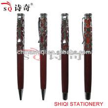 Novelty promotional carving metal ballpoint pen