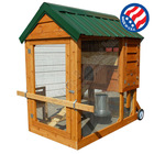 Cedar Chicken Coop Hen House Tractor 4' x 6' Mobile Organic Large Breed Roost