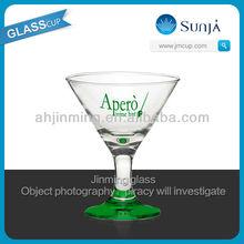 2013 Colored foot Martini Glass party favor export quality Barware deli wine glass