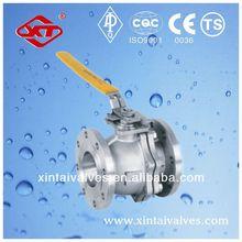 API ANSI DIN JIS flange ball valve lever handle red white ball valve cast iron ball check valve