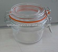 SINOGLASS Clip Lid Glass Jar