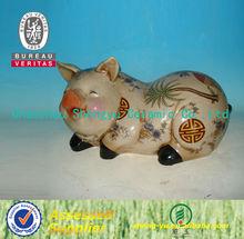 China antique craft ceramic pig decoration