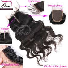 bleached knots boby wave virgin human hair cheap lace front closure piece