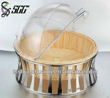 plastic round bread basket,handicraft storage box