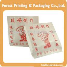 Foil Lined bag food-grade glue promotional Grease-proof Paper food bag / packaging