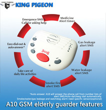 old people live alone alarm system gift for elderly disabled gsm alert A10 Quad-band 24 hours zone alarm sos alarm