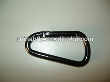 Folded fashion d shape carabiner with keychain