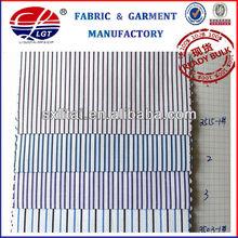 shirt fabric/ poly cotton twill fabric yarn dyed stripe pattern