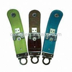 leather 4gb usb flash thumb drive