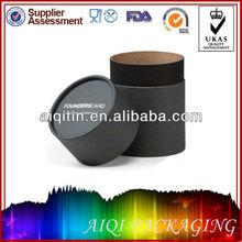 Custom Black Small Round Packaging Wax Cardboard Box with Lids