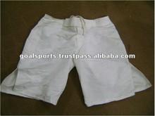 White Color Men's 100% Polyester MMA Short