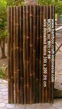 Black Bamboo Half Fence