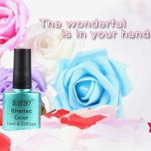 Bluesky Shellac high quality UV LED gel nail polish soak off gel